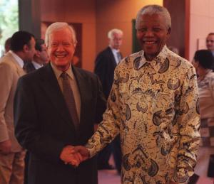 Mandela con el expresidente  estadounidense Jimmy Carter