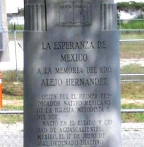 monumento a la memoria del Pastor Alejo Hernández