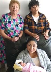 Margarita, Yadira, Zafiro y Sara Suárez Castro.