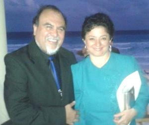 Fernando Fuentes Amador y su esposa María Elena Silva de Fuentes