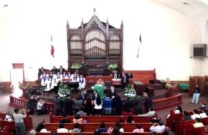 Consagración del Gabinete Conferencial, a cargo del nuevo Obispo de la  CASE   (Foto Josué Mellado Tapia)