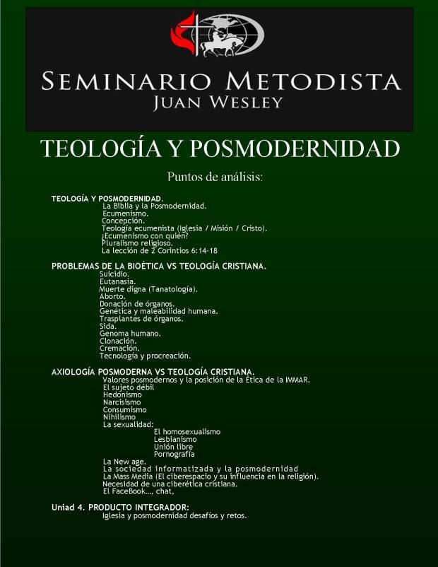 TEOLOGIA Y POSMODERNIDAD (2)