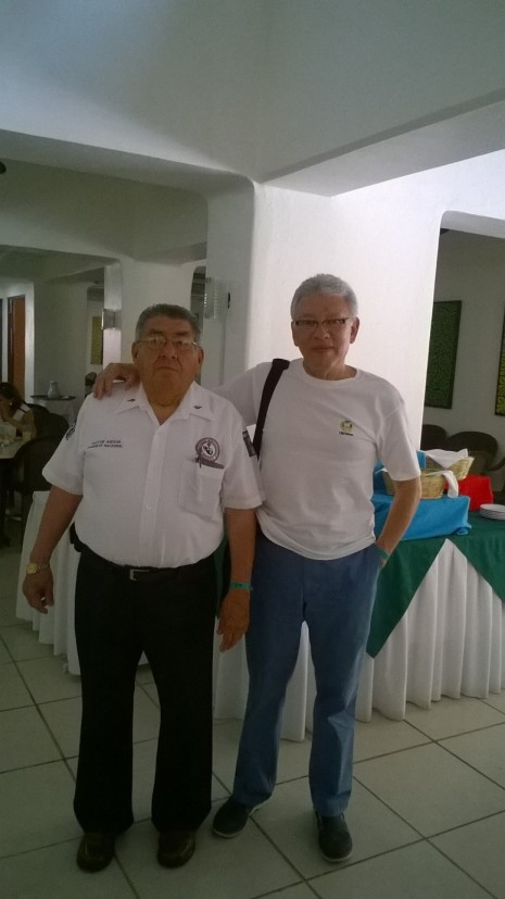 Con el Asesor Pastoral del Gabinete Nacional,                                               Pbro. Abner Alanís Rangel de la CAM