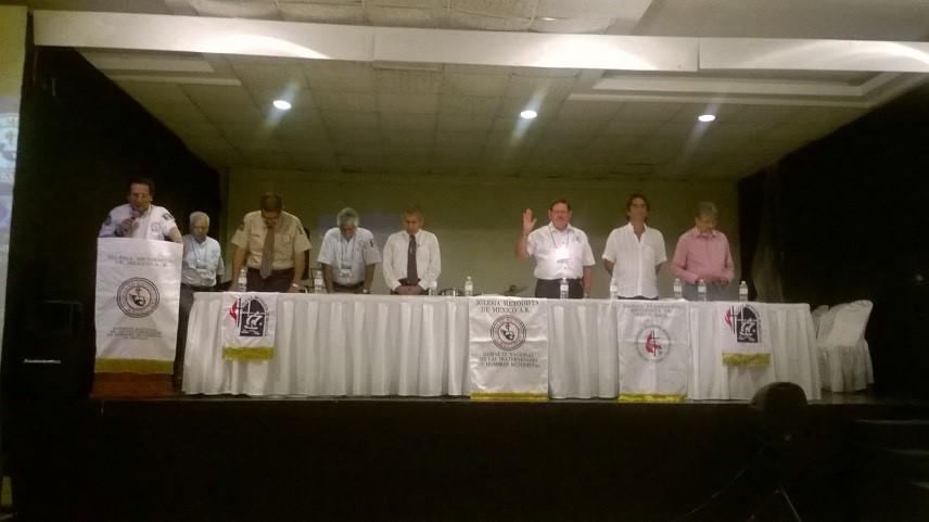 Obispos y Gabinetes Nacionales de México y Costa Rica. Declaración de inicio de Encuentro, después de los honores a las banderas