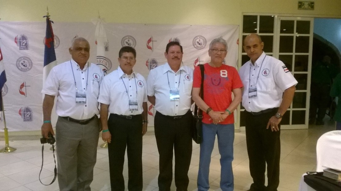 Con el Gabinete Nacional de Costa Rica:           Salvador Marín Zapata, Julio Quirós Q., Álvaro Torres Álvarez y José Luis Salas