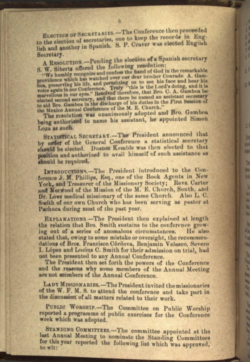 Acta 1er. día CAM, 1884 3