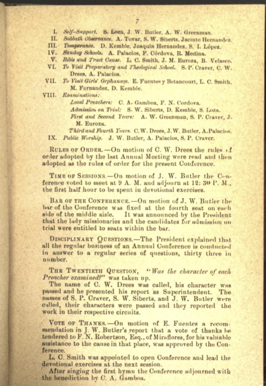 Acta 1er. día CAM, 1884 4