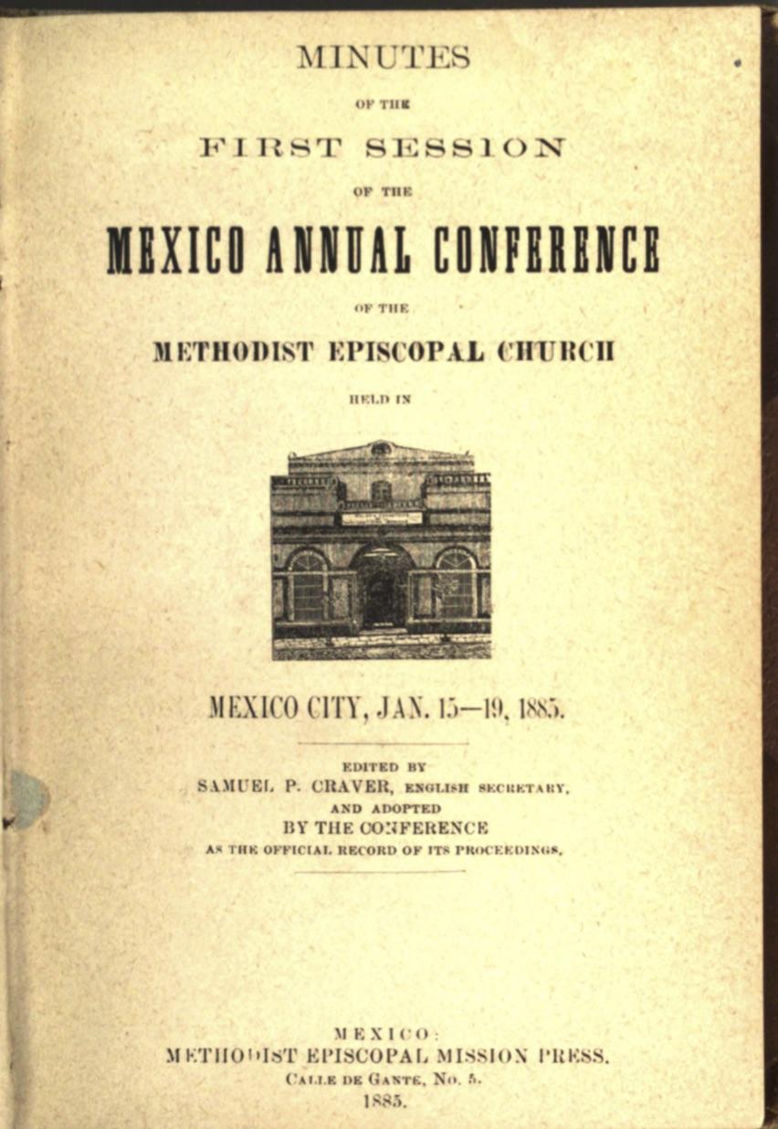 Acta 1er. día CAM, 1884