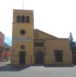 parral, templo Cristo el Redentor, met