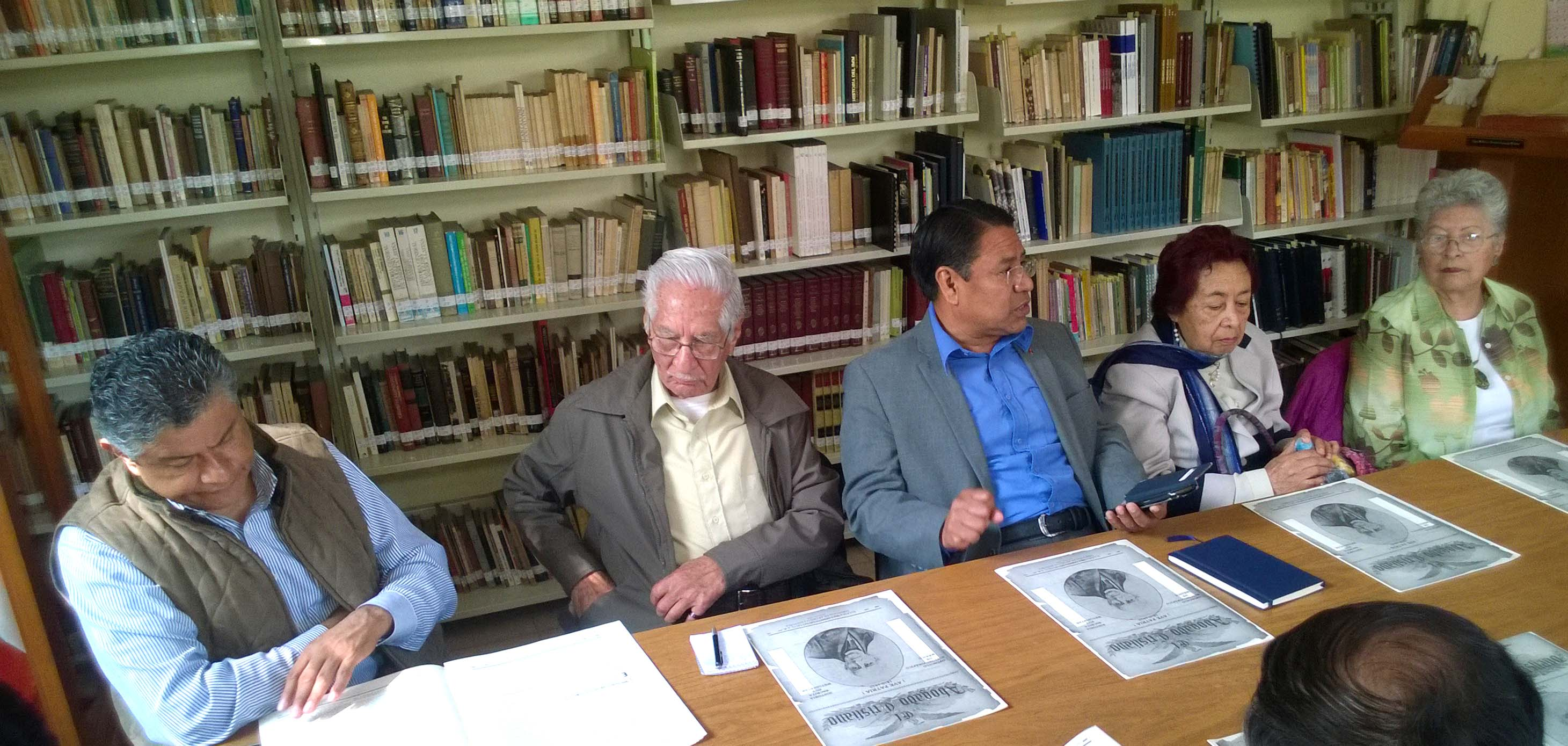 Eliseo Rios, Blas L. Reyes, Pedro Moreno, Alicia Ruiz, Margarita Velasco.