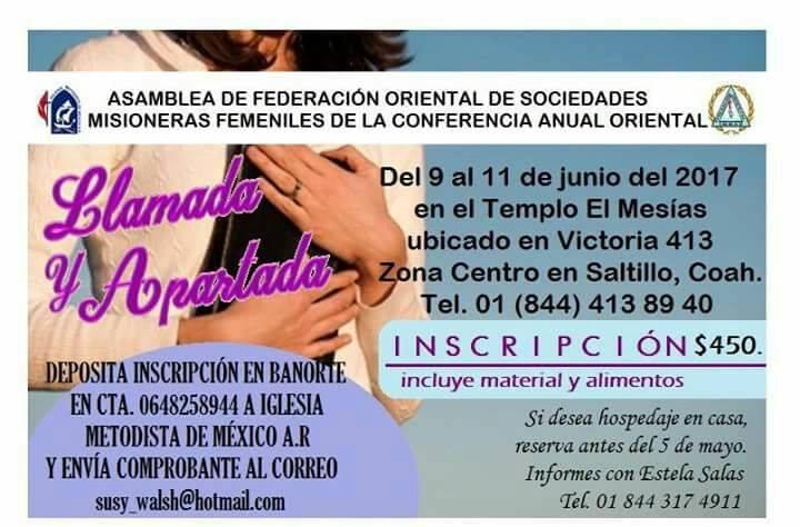 Asamblea 2017 Sociedades Misioneras Femenuiles, CAO