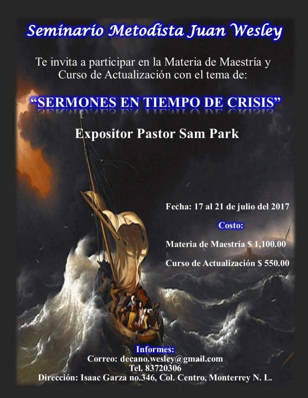 Sermones en Tiempo de Crisis, Maestría