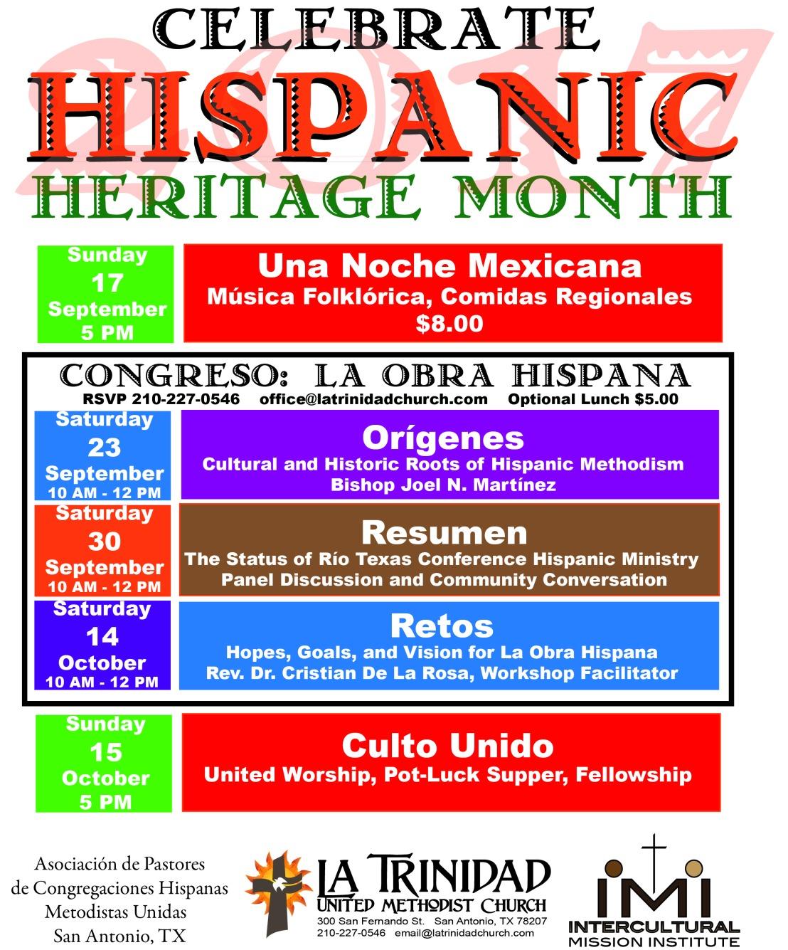 Mes de la Herencia Hispánica 2017