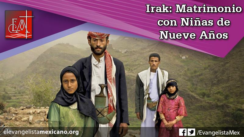 11 - a) Irak, matrimonio con niñas de nueve años