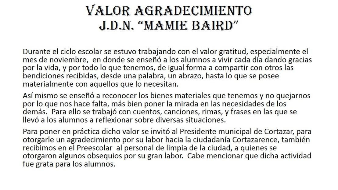 12) Org. Rector - Jardín de Niños Mamie Baird