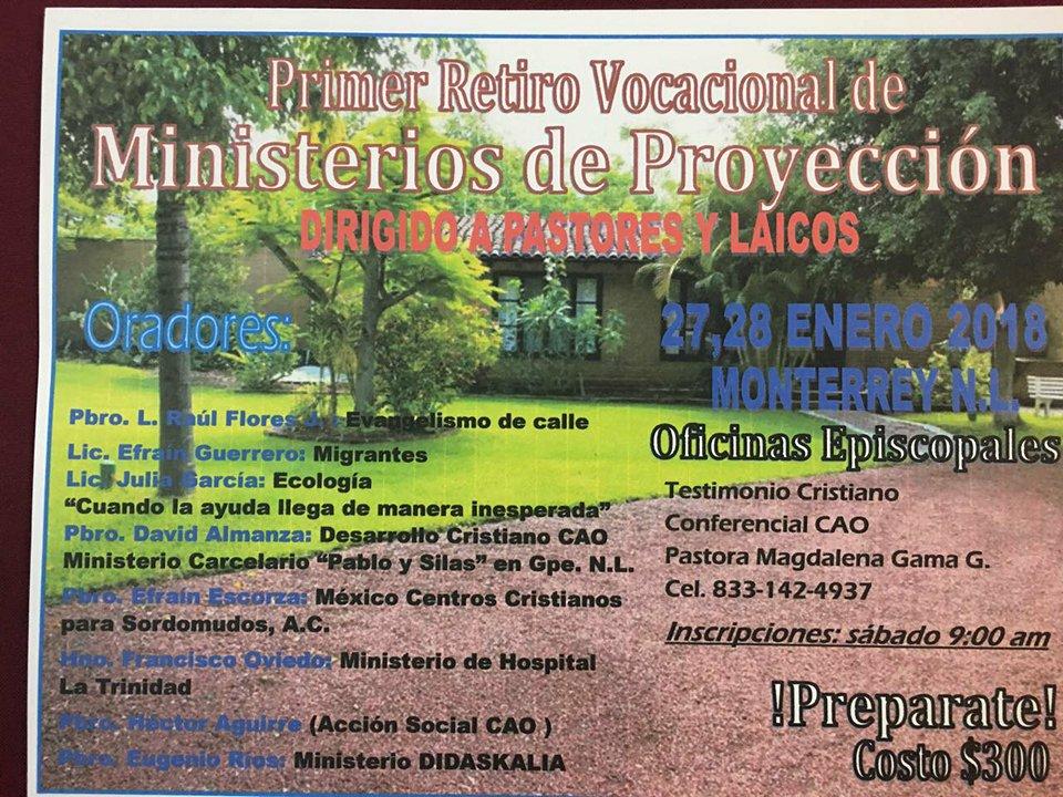23) Primer Retiro de Ministerios, CAO