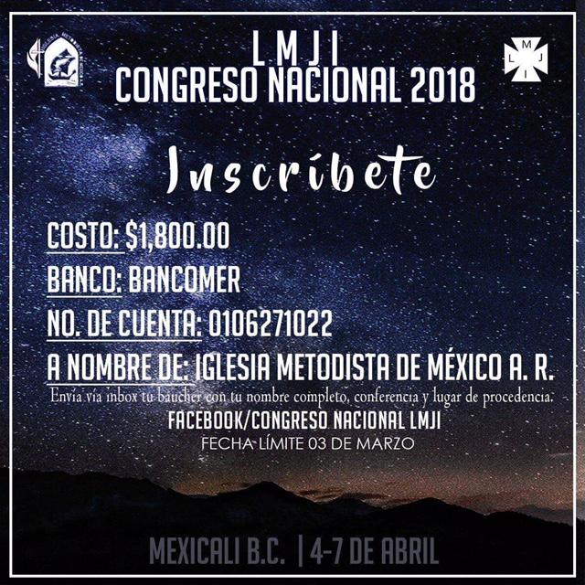 20) Congreso Nacional LMJI, Inscripciones