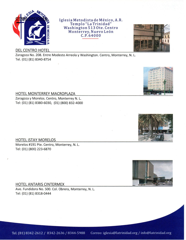10. Invitación a la XXVIII Conferencia Anual de la CAO, hospedaie 1