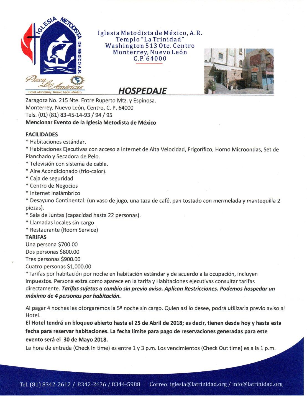 10. Invitación a la XXVIII Conferencia Anual de la CAO, hospedaie 2