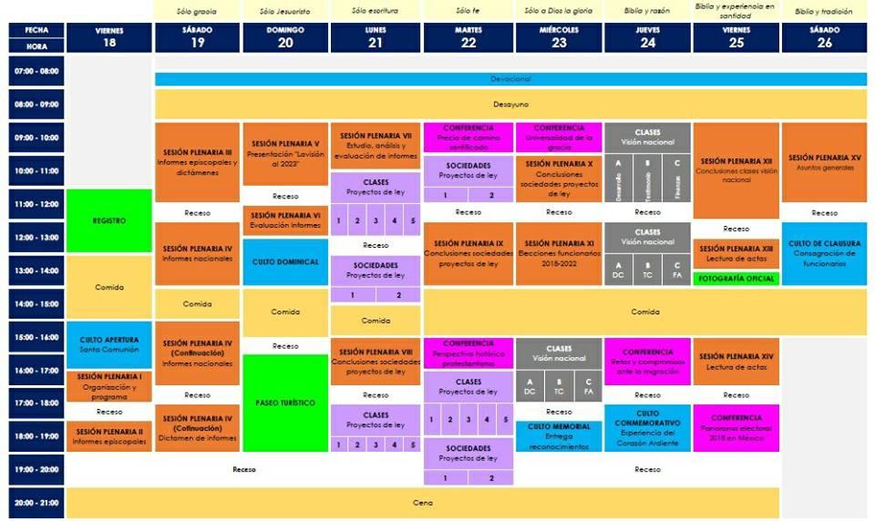 2, b. XXIII Conferencia General de la IMMAR, Programa