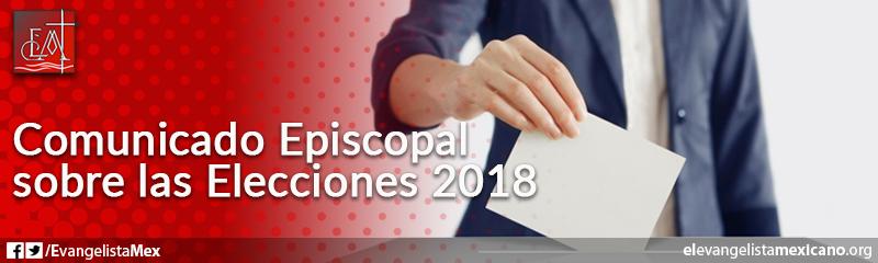 5. Comunicado episcopal sobre las elecciones 2018