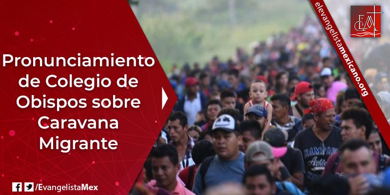 7. Pronunciamiento Colegio de Obispos sobre Caravana Migrante
